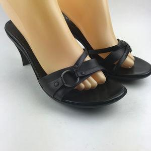 Anne Klein Slide Sandals Size 8.5 Women Kiten Heel
